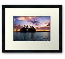 Bold Clouds Over Lake Martin Framed Print