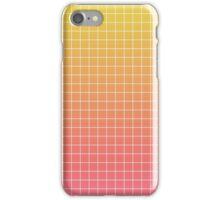 Peach Grid iPhone Case/Skin