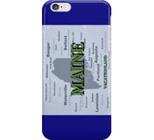 Aged Maine State Pride Map Silhouette  iPhone Case/Skin
