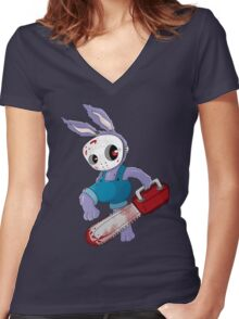 Bunnson X Women's Fitted V-Neck T-Shirt