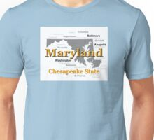 Maryland State Pride Map Silhouette  Unisex T-Shirt