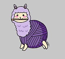 Yarn Alpaca - Purple by Casey Sunshine