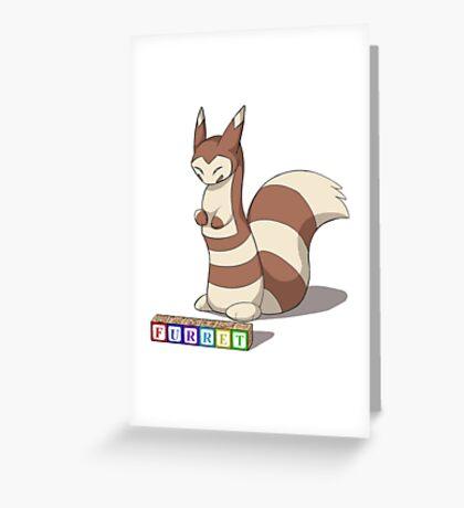 Pokemon Furret Greeting Card