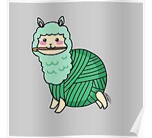 Yarn Alpaca - Green Poster