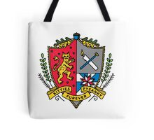 """kitties and pysanky furever"" traditional colour crest Tote Bag"