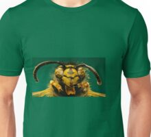 The red Wasp on green Background  -  Vespula rufa (Linnaeus,1758) Unisex T-Shirt