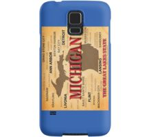 Aged Michigan State Pride Map Silhouette  Samsung Galaxy Case/Skin