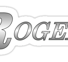 Rogers Drums Silver Sticker