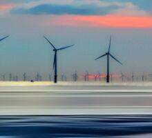 Windmills to the Horizon Sticker