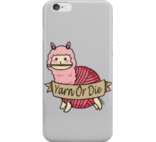 Yarn Alpaca - Yarn Or Die - Pink iPhone Case/Skin
