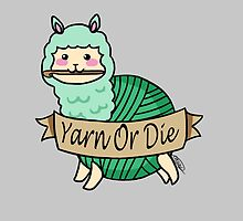 Yarn Alpaca - Yarn Or Die - Green by Casey Sunshine