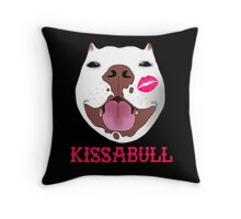 Kissabull Throw Pillow