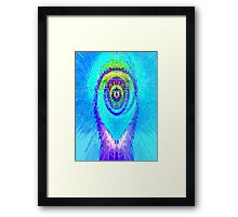 Hot As A Blue Flame Framed Print