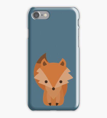 Cute Brown Cartoon Baby Fox iPhone Case/Skin