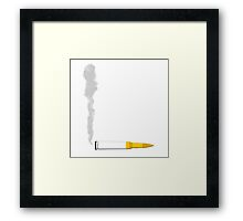 Smoking Bullet Framed Print