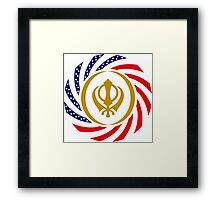 Sikh American Patriot Flag Series Framed Print