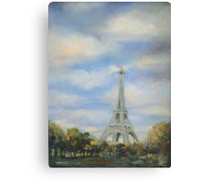 Eifel Tower, oil on canvas Canvas Print