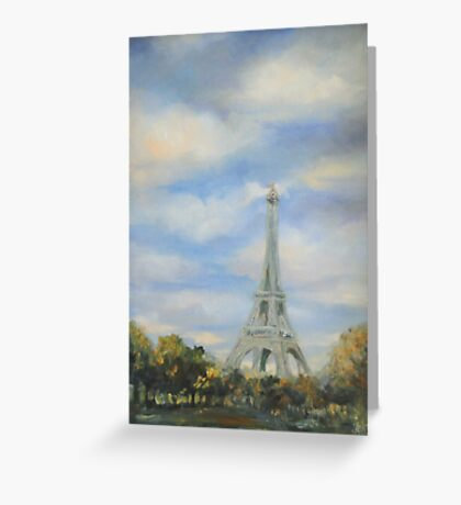 Eifel Tower, oil on canvas Greeting Card