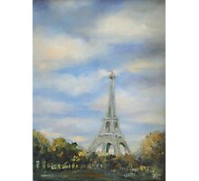 Eifel Tower, oil on canvas Photographic Print
