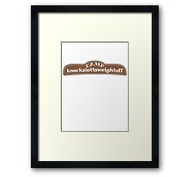 Camp knockalottaweightoff Framed Print