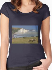 The Seven Sisters- HDR Women's Fitted Scoop T-Shirt