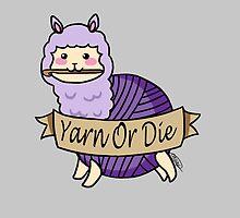 Yarn Alpaca - Yarn Or Die - Purple by Casey Sunshine