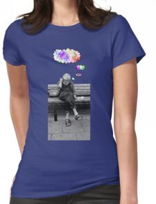 Thoughts of colors Womens Fitted T-Shirt