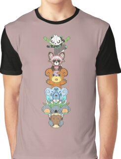 Bear Totem Pole Graphic T-Shirt