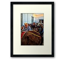 Men with Mules Framed Print