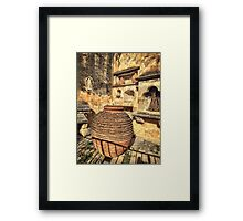 Pottery in Crete Framed Print