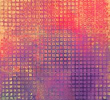 Watercolor Abstraction: Purple Grid Texture by Megan  Koth