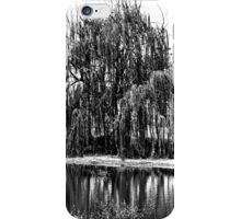 Black and White Weeping Willow iPhone Case/Skin