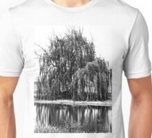 Black and White Weeping Willow Unisex T-Shirt