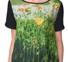 Poppy Flowers Chiffon Top