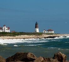Old New England Lighthouse by Barry Doherty
