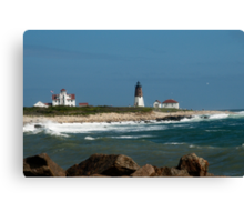 Old New England Lighthouse Canvas Print