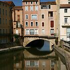 Canal bridge in Narbonne France by Paul Pasco