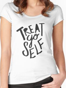 Treat Yo Self Women's Fitted Scoop T-Shirt