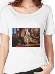 Vintage steam train floodlight Women's Relaxed Fit T-Shirt