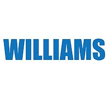 Williams (Blue) Photographic Print