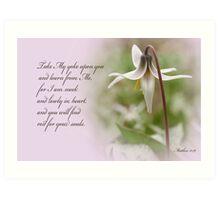 Rest ~ Matthew 11:29 Art Print