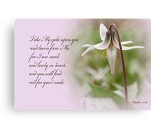 Rest ~ Matthew 11:29 Canvas Print
