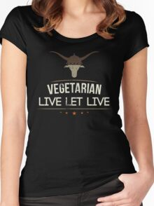 Vegetarian Live Let Live Women's Fitted Scoop T-Shirt