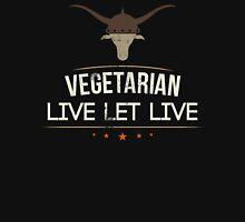 Vegetarian Live Let Live Unisex T-Shirt