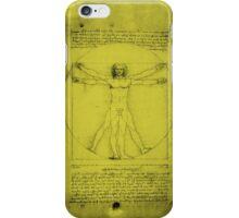 Vitruvian Man, Leonardo Da Vinci iPhone Case/Skin