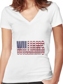 Williams (USA) Women's Fitted V-Neck T-Shirt