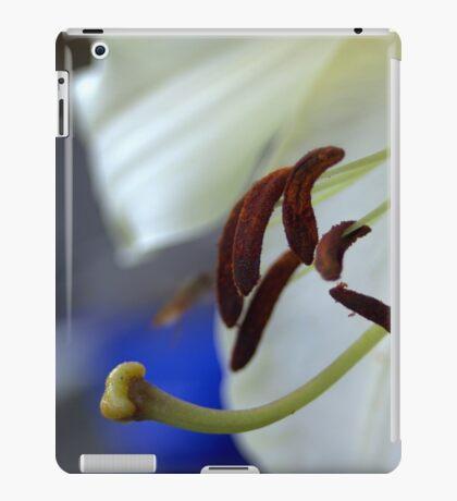 experimental closeup of a white lily iPad Case/Skin