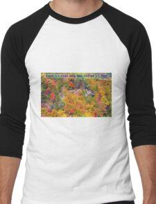 Autumn Flowering Men's Baseball ¾ T-Shirt