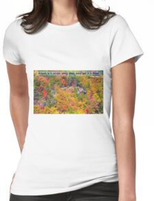 Autumn Flowering Womens Fitted T-Shirt
