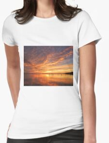 Florida sunset reflection Womens Fitted T-Shirt